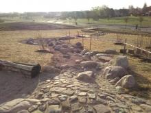 Wassergraben Bachlauf Natur-Generationen-Spielplatz Witternförden
