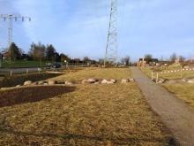 Generationen-Spielplatz Witternförden: Abdecktes Saatgut für Blumenwiese gartenbau breuer